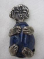 meisje zilveren hanger, met lapis lazuli.jpg